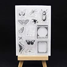 Butterfly Dragonfly Transparent Clear Silicone Stamp/Seal for DIY Scrapbooking/Photo Album Decorative Card Making