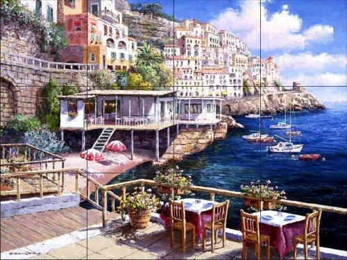 Ceramic Tile Mural - Amalfi 2 - da Sam Parco / Soho Editions - splashback Cucina / doccia Bagno