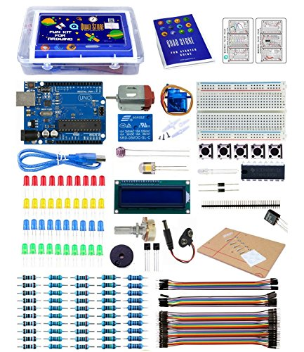 Quad Store - Fun kit for Arduino Uno R3 (with BOOK and Circuit for Beginners/Starters)