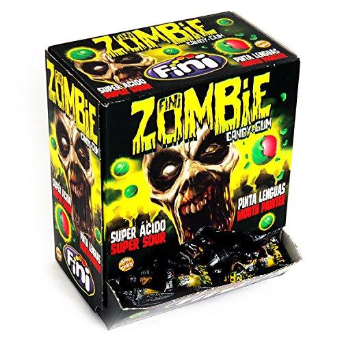 Fini Zombie - Candy Gum - Box mit 200 Kaugummi-Bonbons einzeln verpackt