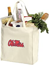 Reusable Ole Miss Grocery Bags or University of Mississippi Shopping Bags Natural Cotton