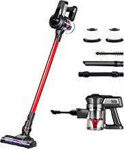 Jajibot Cordless Vacuum Cleaner, 2-in-1 Handheld Stick Vacuum with Rechargeable Li-Ion Battery and Adjustable Suction, Lig...