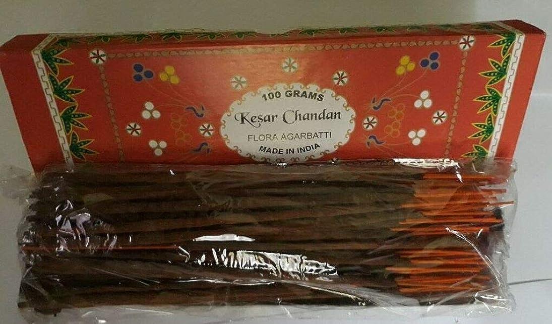 違反する過半数ミンチKesar Chandan (Saffron Sandal) サフラン サンダル Agarbatti Incense Sticks 線香 100 grams Flora Incense フローラ線香