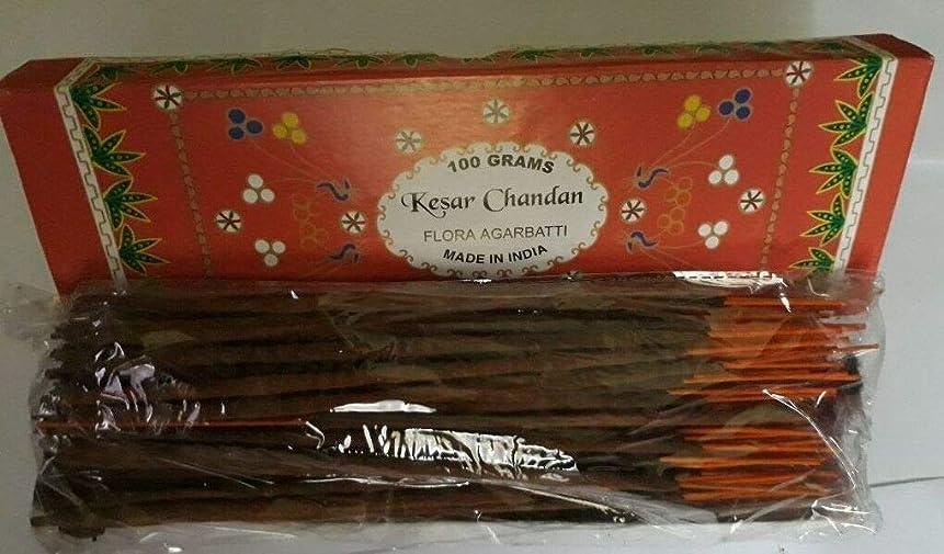 エラーパスポートファイアルKesar Chandan (Saffron Sandal) サフラン サンダル Agarbatti Incense Sticks 線香 100 grams Flora Incense フローラ線香