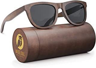 Wood Sunglasses Polarized for Men & Women - Wayfarer Style Bamboo Wooden Sunglasses