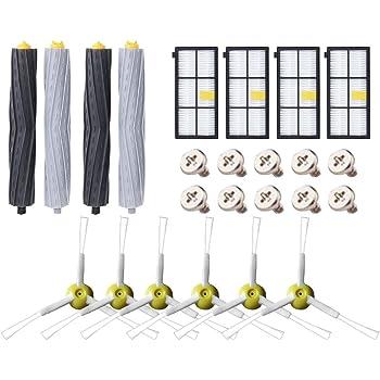 ABClife Kit de Accesorios Compatible con iRobot Roomba Recambios Roomba Series 800 805 850 860 865 866 870 871 880 886 890 891 895 896 900 960 965 966 980 para Robot Aspirador, 24in1: Amazon.es: Hogar