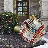 SHANGYOU Bolas de decoración navideña, Bola Inflable de decoración al Aire Libre de PVC de Navidad Gigante de 24 Pulgadas con Bomba,para decoración de jardín Adornos Bolas inflables (H)