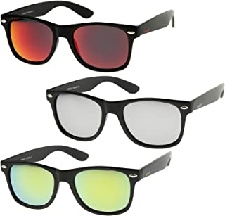 zeroUV - Retro 80's Classic Colored Mirror Lens Square...