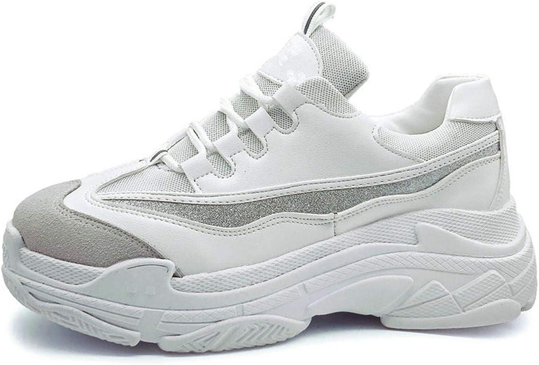 Carolyn Jones Casual shoes Wild Platform Heels Female Leisure Black White Sneakers for Women