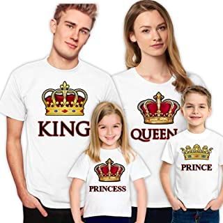 King Queen Prince Princess Family Shirts for Set Husband Wife Son Daughter Kids