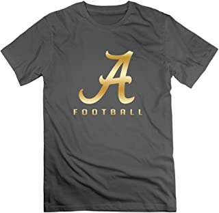 WBARD Men's Alabama Crimson Tide Gold Logo T-Shirts