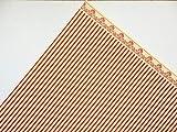 Melody Jane Poupées Maison Rouge sur Crème Windsor Rayure Miniature Imprimé Papier Peint Ensemble de 3