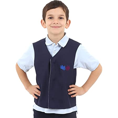 Fun and Function's Blue Weighted Vest for Children Medium - Helps Kids with Sensory Issues, Autism, ADHD, Mood, Sensory Over Responding, and Travel Issues - Removable Weights Included