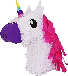 White Unicorn w/Pink Hair Pinata - Mexican Piñata - Handmade in Mexico