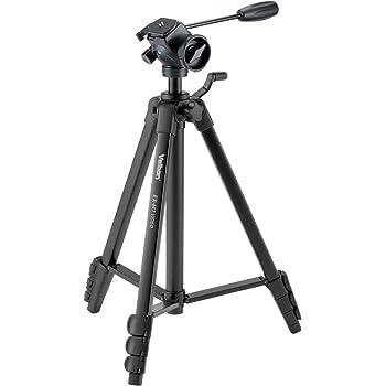 Velbon ビデオ用三脚 EX-447 VIDEO 4段 レバーロック 全高155cm 脚径20mm 小型 フリュード雲台 クイックシュー対応 アルミ脚 301468