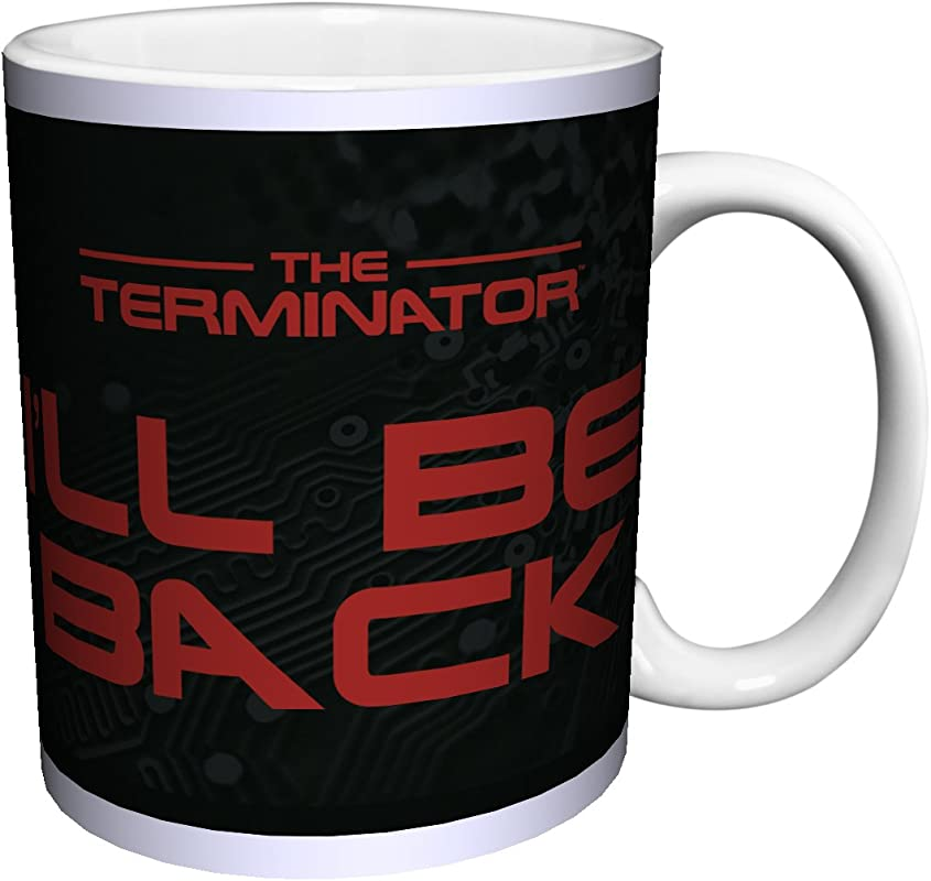 The Terminator Arnold I Ll Be Back Quote Sci Fi Action Movie Film Porcelain Gift Coffee Tea Cocoa 11 Oz Mug