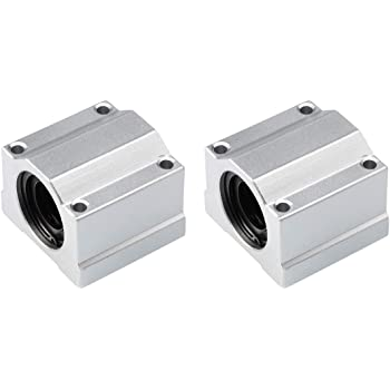 2x CNC linear slide guide Cylinder shaft 20mm rod SC20UU SCS20UU bearing blocks
