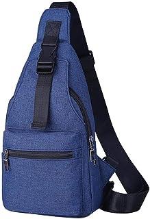 TOOGOO Casual Shoulder Crossbody Fashion Chest Belt Belt Unisex Travel Solid Motion Chain Messenger Bag Black