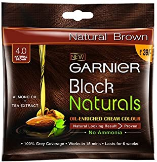 Garnier Black Naturals Shade 4 (20ml + 20g)(Natural Brown)