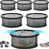 6 Pieces Paper Clip Holder Mesh Paper Clip Holders Paper Clip Dispenser Desk Accessories for Desk Drawer Organizer Collection, Paper Clip Organizer Paperclips Dispenser for Home Office School