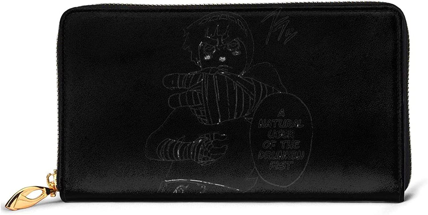Drunken Fist Rock Lee Naruto Leather Zipper Indianapolis Mall Metal Fashion Wallet Ranking TOP8