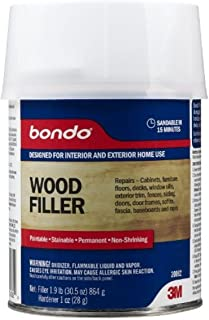 3m Bondo Home Solutions Wood Filler; Restores Replaces Rotted Damaged Wood; New