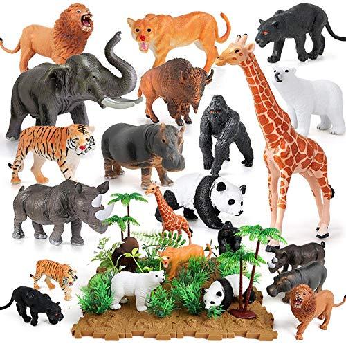 Juego juguetes figuras animales selva 44 piezas: mini