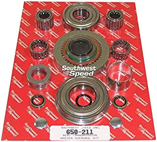 NEW MASTER OVERHAUL REBUILD KIT FOR BERT ALUMINUM AND MAGNESIUM TRANSMISSIONS FOR MODIFIED, LATE MODEL, AND STREET STOCK RACING, 93, TRANNY, IMCA, UMP, USMTS, ETC, CLUTCH DISC PACK, TAILHOUSING BUSHING AND REAR SEAL, INPUT SHAFT OIL SEAL, SHIFTING FORKS RETAINING PINS, SHIFTING ARM SEALS, MAIN CASE SHIFTING ROD PLUGS, HYDRAULIC CLUTCH CUP, FRONT COUNTER SHAFT O-RINGS, INPUT AND OUTPUT SHAFT BEARINGS, CAGE NEEDLE BEARINGS, COUNTER THRUST FLAT ROLLER BEARINGS AND WASHERS