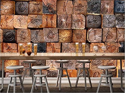 Murales Fotomural Fotomurales Personalizar cualquier tamaño mural retro nostálgico 3d papel tapiz de madera de madera Papel de parede para par/quarto-400 x 280 cm-5 (ancho * altura)