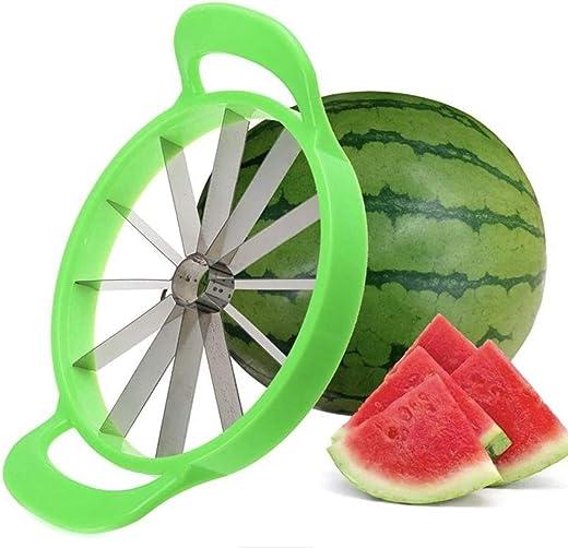 ZURATO Watermelon Slicer Large Stainless Steel Fruit Cutter Kitchen Utensils Gadgets Large Melon Slicer - 28 cm / 11 inches