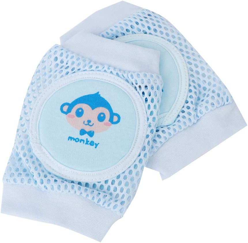 Cikonielf 2 Paar Knieschoner Baby Krabbeln Elastische Baby Beinlinge atmungsaktive Mesh Anti-Rutsch Kniesch/ützer f/ür Junge und M/ädchen Blau