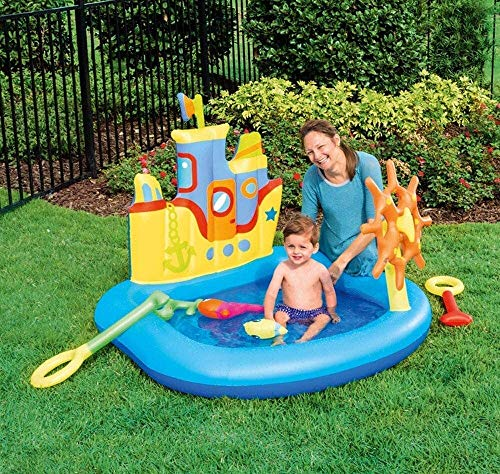 RTUHRJLXJ Summer Fashion Folding Swimming Pool, Swimming Pool, Children's Pool, Ocean Ball Pool Inflatable Baby Pool, Fishing Pond Thick Layer of Sand, 140 130 104 cm Family Pool