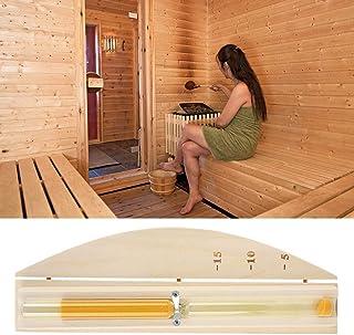 Lopbinte Minuterie de 15 Minutes Minuterie de Sable Rotative pour Mur de Sablier Sauna Compte /à Rebours 15 Minutes Bleu