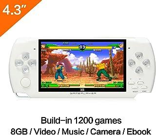 CZT 4.3 Consola de Mano del Juego de la Pulgada 8GB con la Consola del Juego Video de la de la función de Mp4 Construido en los Juegos Verdaderos de la1200 Juegos de GBA/GBC/GB/SFC/FC/Sega/SMC