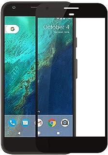واقي شاشة زجاجي بإطار أسود لحماية الشاشة لجوال جوجل بكسل XL