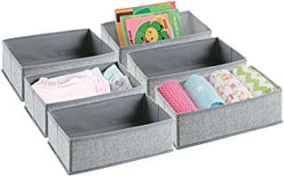 mDesign la boîte de rangement – le panier de rangement idéal pour ranger vos vêtements, serviettes, lotion, médicaments – ...