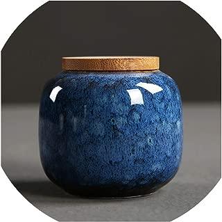 Ceramic Jar Tea Storage Box Sealed Cans Portable Travel Tea Accessories Kitchen Bar Supplies Storage Box Ceramic Jar,A