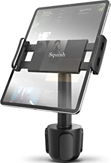 Car Cup Holder Tablet Mount, Squish Universal Tablet Holder for iPad Pro/Air/Mini, Kindle,Tablets Nintendo Switch Smartphones, Compatible with 4.4