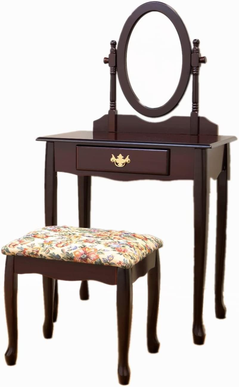Frenchi We OFFer at cheap prices Home Furnishing Cherry 3-Piece Shipping included Set Vanity