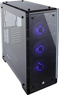 Corsair Crystal 570X RGB - Caja de PC, Mid-Tower ATX, ventana lateral cristal templado con ventilador, iluminación RGB LED, Negro