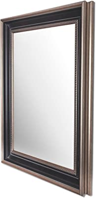 Art Street Wall Perl Decorative Wall Mirror Black Color Inner Size 16 x 20 inch, Outer Size 20 x 24 inch