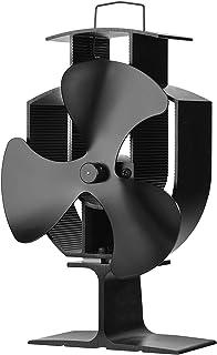 Zennox Ventilador de estufa de 3 aspas Accionada con calor Respetuoso con el medio ambiente para quemadores de madera y quemador de leña