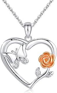 Muttertagsgeschenke Damen Halskette Einfach Perlen Anhänger Kette mit Karte JO