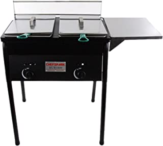 Chefspark Outdoor Two Tank Fryer, 2 Baskets & Stainless Steel Oil Tank