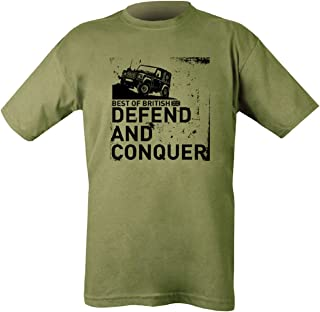 Kombat Defend and Conquer Army Military Army T-Shirt - Olive Green - Medium