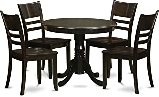 ANLY5-CAP-W 5 Pc Kitchen Table set-Kitchen Dining nook and 4 Dining Chairs