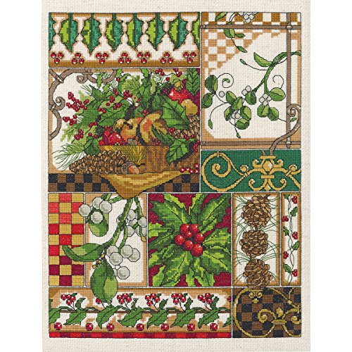 Janlynn 14 Count Winter Montage Counted Cross Stitch Kit, 11-Inch x 14-Inch