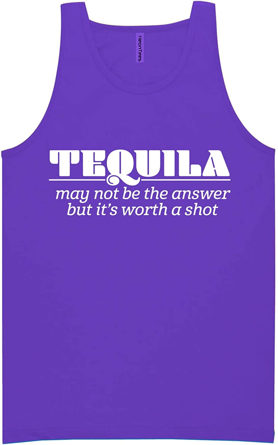 Tequila May Not Be The Answer Neon Tank Top