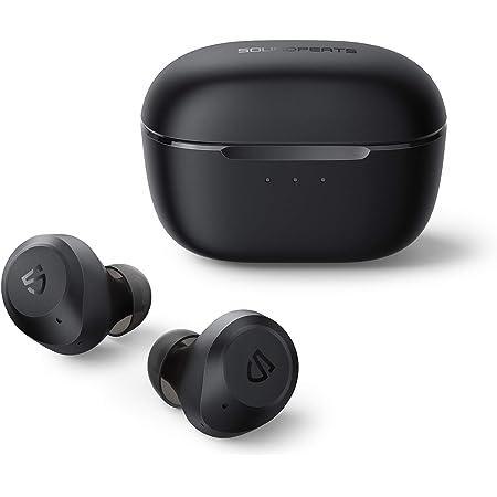 SOUNDPEATS T2 進化版 ワイヤレスイヤホン / アクティブノイズキャンセリング / 外部音取り込みモード / MCSync左右同時伝送 / 単体10時間 長時間再生 / 高音質 低遅延 / 防水耐汗 / ANC ノイズキャンセリング 音漏れ防止 良きフィット感 Type-C充電対応 スポーツイヤホン 完全ワイヤレス イヤホン Bluetooth イヤホン タッチセンサー式 低音重視 自動ペアリング ハンズフリー Zoom ミーティング テレワーク ブルートゥース ヘッドホン サウンドピーツ [技適認証取得、正規メーカー1年保証] (ブラック)