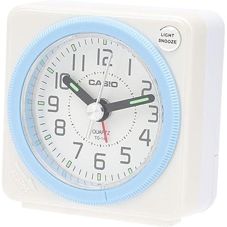 CASIO(カシオ) 目覚まし時計 ホワイト 5.8×5.6cm アナログ トラベルクロック ライト 付き TQ-146-7JF
